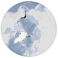 Map from the Pan-Arctic PAM Network